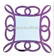 Purple & Silver Italian Wall Mirror